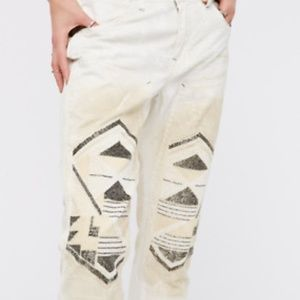 Free People Embellished / Beaded Light Wash Jeans
